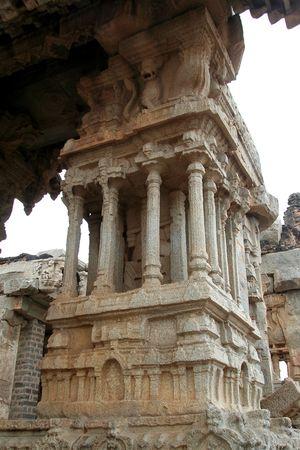 tuneful: Musical pillars at Vijayavithala Temple in Hampi, Karnataka, India, Asia Stock Photo
