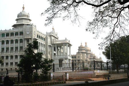 Vikasa Soudha and vidhana Soudha buildings of State Government, Bangalore, Karnataka, India, Asia Stock Photo