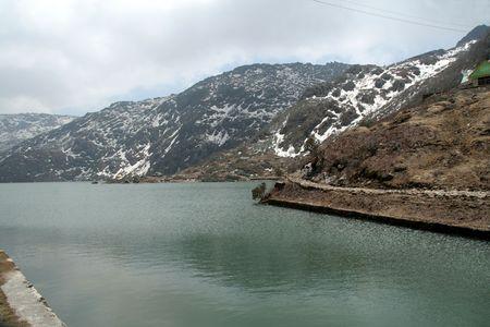 Tsomgo Lake, 12400 feet altitude, Ganktok, Sikkim, India, Asia Standard-Bild