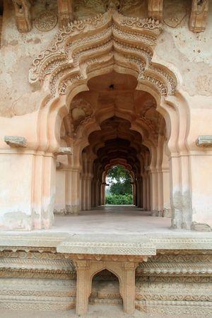 Close-up of arch design of renowned Lotus Mahal, the Queens' Palace, at Hampi, Karnataka, India, Asia Stock Photo - 7449365