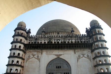 echoes: Imposing historic monument Gol Gumbaz at  Bijapur, Karnataka, India, Asia