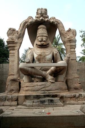 Ugranarasimha temple at Hampi, the capital of Vijayanagar Empire, Karnataka, India, Asia Stock Photo - 8521316