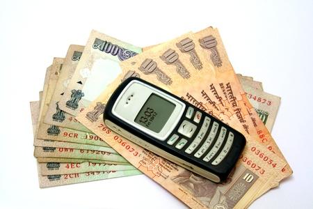 facilitation: Facilitation of financial transactions using mobile phone Stock Photo