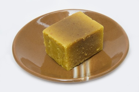gram: delicious sweet of Karnataka in South India with Bengal gram flour, sugar and ghee as ingredients