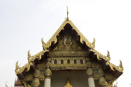 Beautiful, ornamental roof of Thai Temple and Monastery at Bodhgaya, Bihar, India, Asia Stock Photo - 9724265