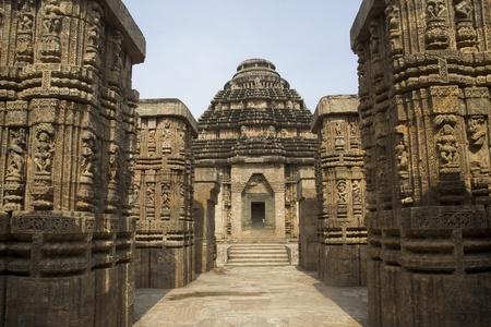 Habile, la sculpture merveilleuse au Temple du Soleil, Konark, Orissa, Inde, Asie