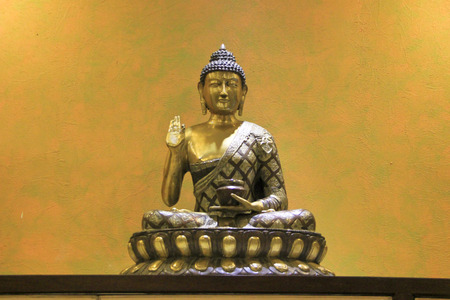 no fear: Buddha in Abhaya  No Fear  Mudra sitting on Lotus Seat