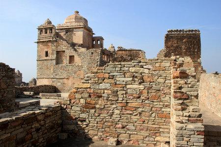 chittorgarh fort: View of Rana Kumbh Palace at Chittorgarh Fort, Rajasthan, India, Asia Editorial