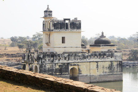 self respect: View of queen Padminis palace at Chittorgarh Fort, Rajasthan, India, Asia Editorial