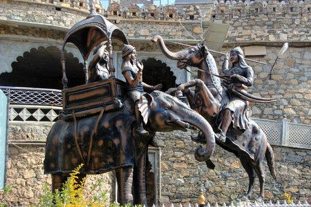 R�plique de guerre de Haldighat dans Maharana Pratap au Mus�e Haldighat, Rajasthan, Inde, Asie