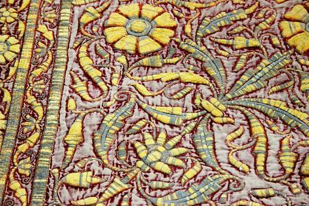 handcrafted: Skillful, handcrafted, floor carpet at Junagarh Fort in Bikaner, Rajasthan, India, Asia
