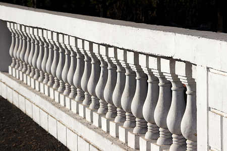 molded: Diagonal view of interesting repetitive pattern of molded concrete compound