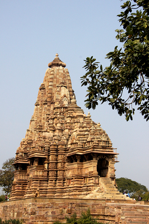 madhya: Magnificent Kandariya Mahadev Temple under Western Group of Temples Khajuraho Madhya Pradesh India Asia
