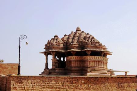 madhya: View of  small temple near SaasBahu Temple in Gwalior Madhya Pradesh India Asia