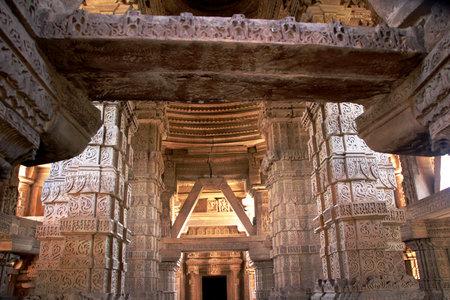 madhya: View of interior architecture of SaasBahu Temple in Gwalior Madhya Pradesh India Asia