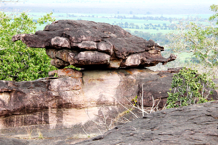 lookalike: Natural wonder of lookalike land tortoise perching on rock at Bhimbetka, near Bhopal, Madhya Pradesh, India, Asia Stock Photo