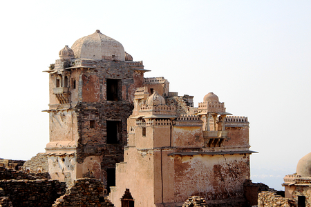 chittorgarh fort: Closer view of portion of Kumbh Mahal (Palace), Chittorgarh Fort, Rajasthan, India, Asia