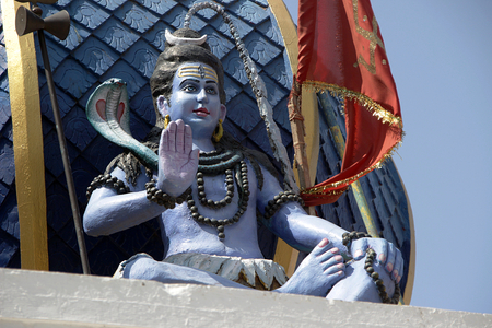 Statue of Blessing Shiva at Bada Ganapati Temple in Indore, Madhya Pradesh, India, Asia Stock Photo