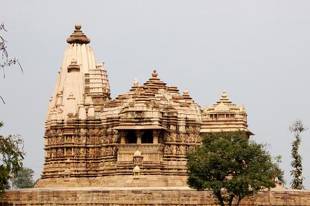 madhya pradesh: View of Vishwanath Temple under Western Group of Temples in Khajuraho, Madhya Pradesh, India, Asia