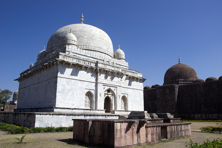 madhya pradesh: Grand tomb of Hoshang Shah - an inspiration to Taj Mahal - at Mandu, Madhya Pradesh, India, Asia
