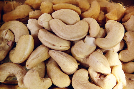 healthful: Energy giving cashew nuts are tasty, nutritious, healthful