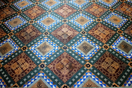 Beautiful pattern of mosaic of ceramic flooring tiles