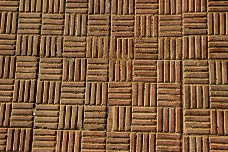 Horizontal and vertical striped pattern of antiskid flooring tiles Stock Photo