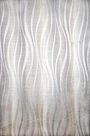 Smooth curtain cloth with nice, silken, white, wavy design