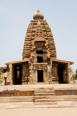 Frontal view of Galaganatha Temple at Pattadakal in Bagalkot district of Karnataka, India, Asia