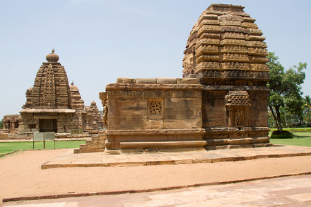 Jambulingeswara and Galaganatha temples in Pattadakal,District Bagalkot, Karnataka, India, Asia