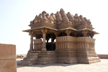 Small but significant temple near Saas-Bahu Temple in Gwalior, Madhya Pradesh, India, Asia