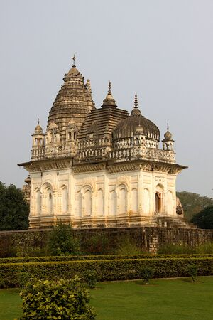 View of Parvati temple, one of Western Group of Temples, at Khajuraho in Madhya Pradesh, India, Asia