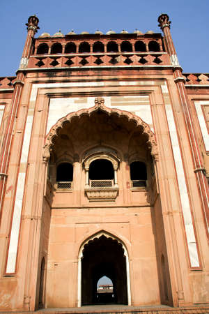 Majestic view of facade of Safdarjung Tomb in Delhi, India, Asia