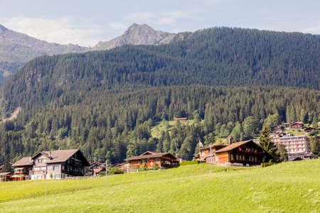Alps mountain village Grindelwald in the Bernese Oberland of Switzerland