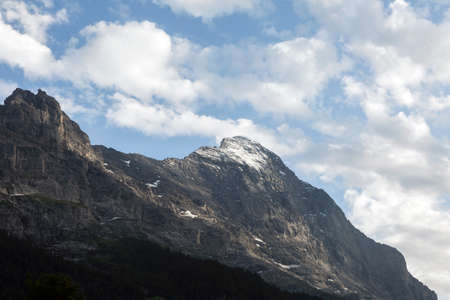 View on the North Face of the Eiger in Grindelwald, Switzerland Stock Photo