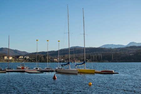 View of the park of the Lago Grande of Avigliana