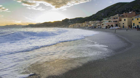View of Varigotti in the province of Savona - Italy