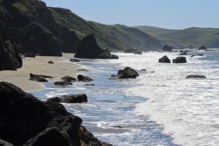 ボデガ湾海岸線-カリフォルニア 写真素材
