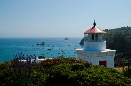 california coast: Trinidad Head Memorial Lighthouse Stock Photo