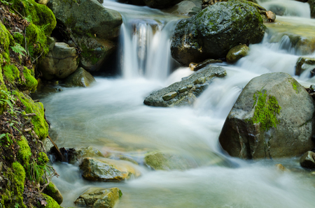 滝カスケード ・ スワンソン クリーク UVAS キャニオン モーガン ヒル カリフォルニア 写真素材