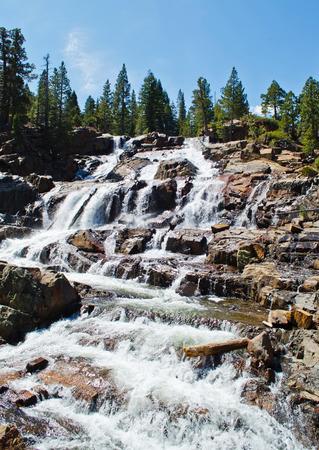 waterfall: GLEN ALPINE FALLS Stock Photo