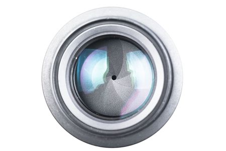 The lens on a white background Stock Photo
