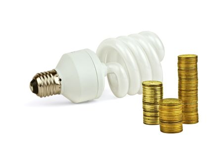 Concept about economy and save of the electricity photo