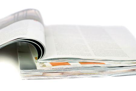 Closeup photo of magazines Stock Photo