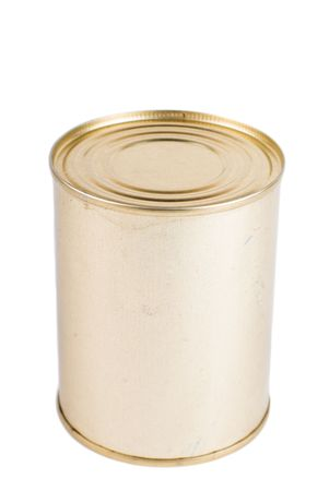 Canning tin on a white background