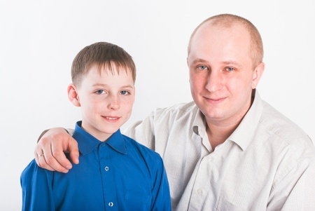 The father and the son Stock Photo