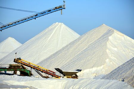 Salt mine mountains in Spain