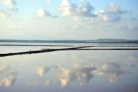Salt lake pans in Torrevieja Spain