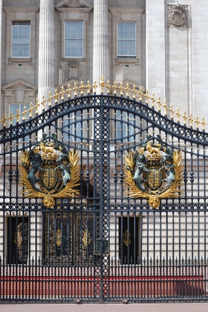 london buckingham palace gate with gold crest Editorial