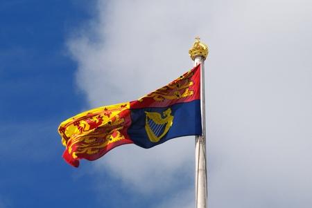 windsor flag on buckingham palace london Stock Photo